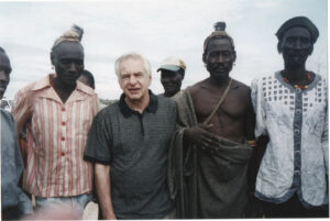 My father working with villagers in northern Kenya
